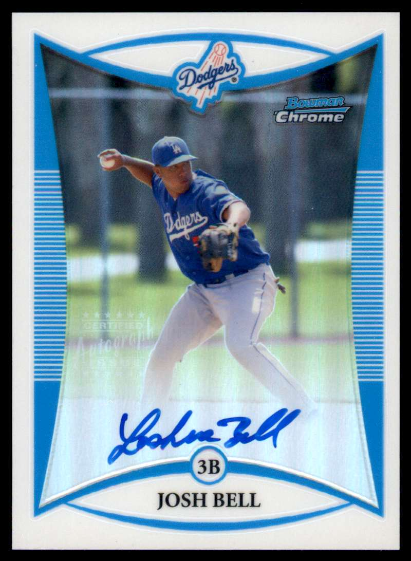 2008 Bowman Chrome [Base] Josh Bell #BCP127 card front image