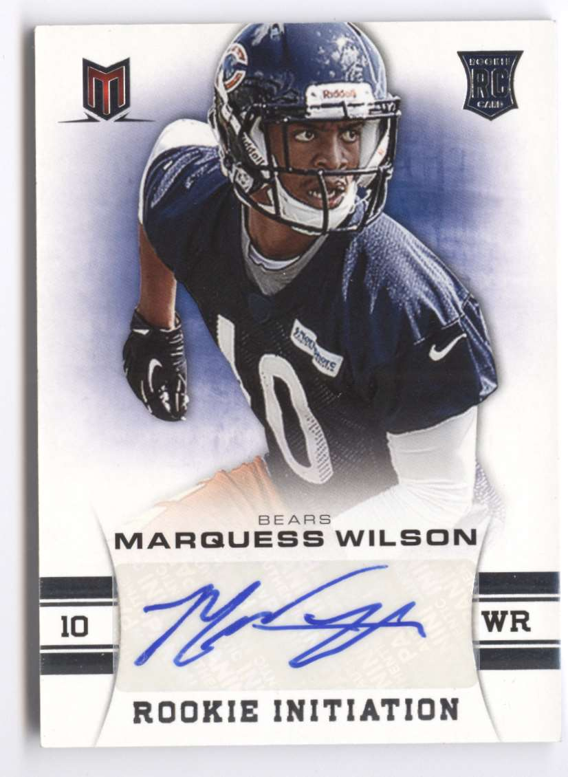 2013 Panini Momentum Rookie Initiation Signatures Marquess Wilson #66 card front image