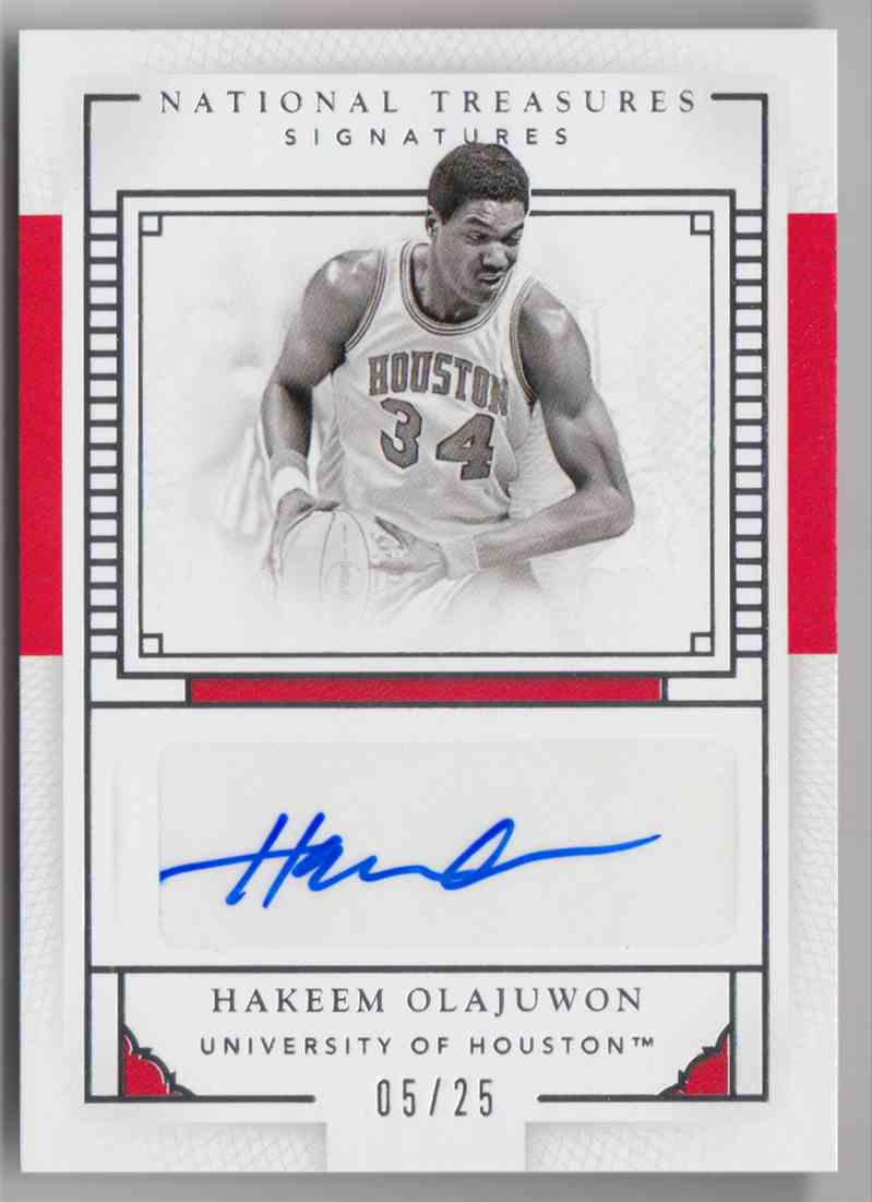 2016-17 Panini National Treasures Collegiate Hakeem Olajuwon #67 card front image