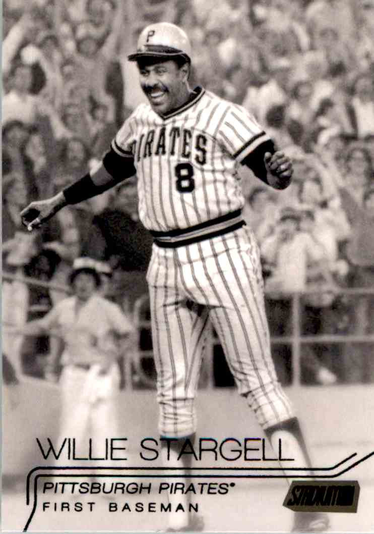 2015 Topps Stadium Club Black Foil Willie Stargell #165 card front image