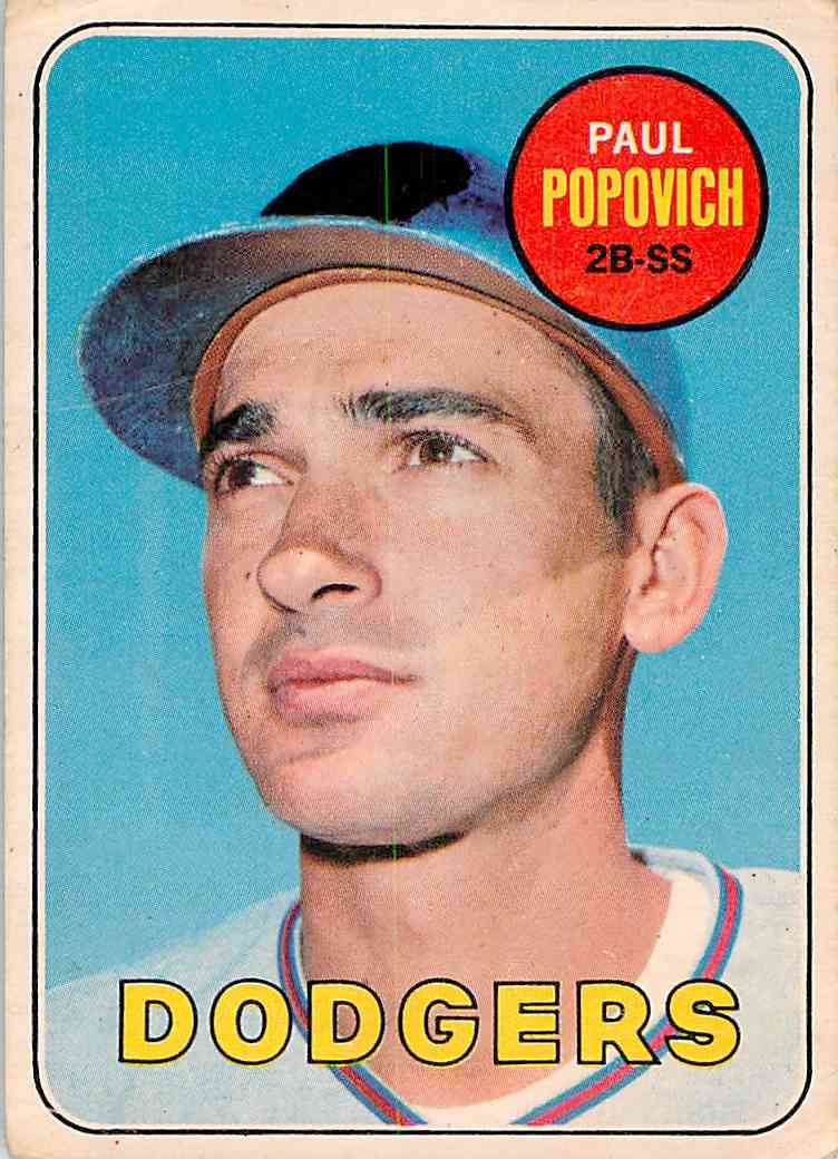 1969 Topps Paul Popovich #47 card front image