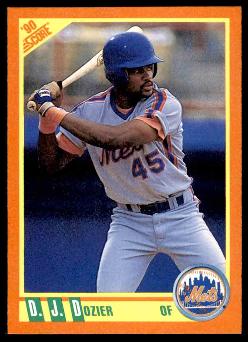 1990 Score Rookie/Traded D.J. Dozier #97T card front image