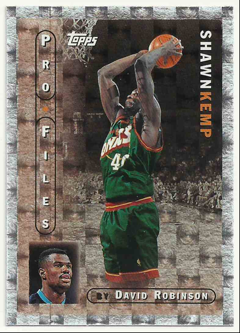 1996-97 Topps Pro Files Shawn Kemp #PF-2 card front image