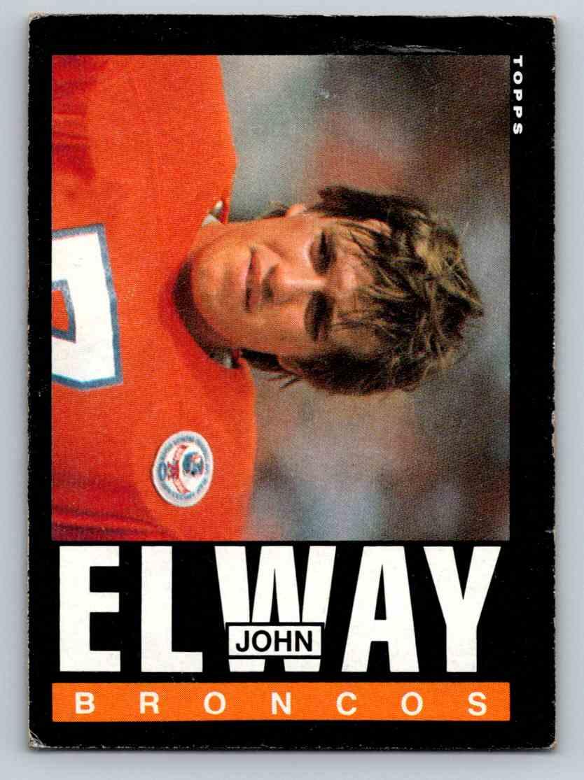 1985 Topps John Elway #238 card front image