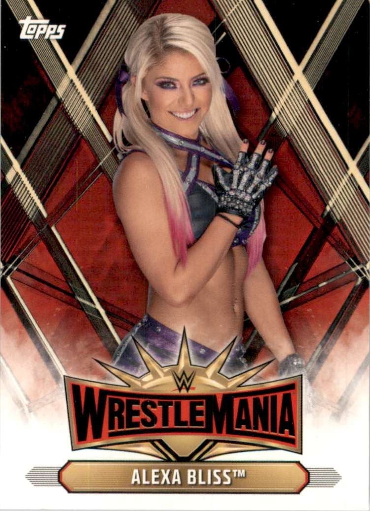 2019 Topps Wwe Road To WrestleMania WrestleMania 35 Roster Alexa Bliss #WM14 card front image