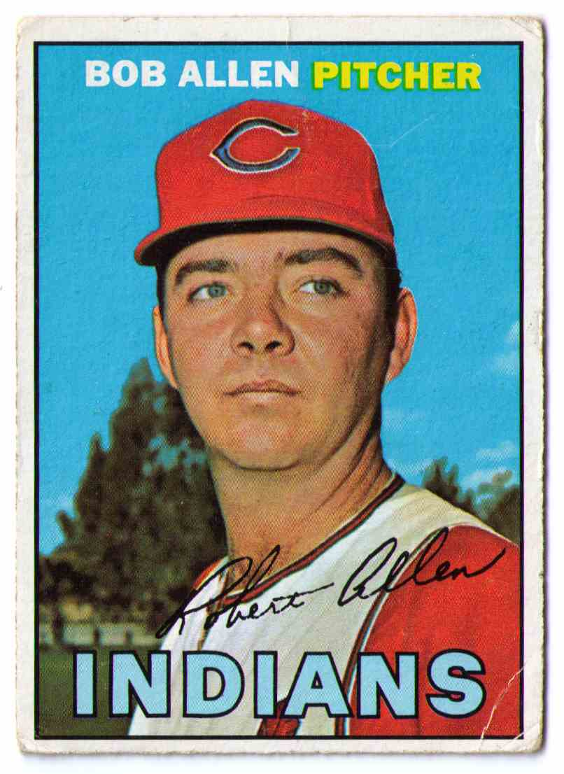 1967 Topps Baseball Card Bob Allen #24 card front image