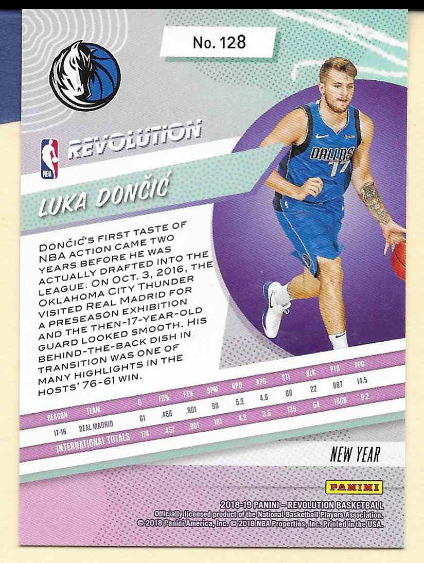 2018-19 Panini Revolution Chinese New Year Luka Doncic #128 card back image