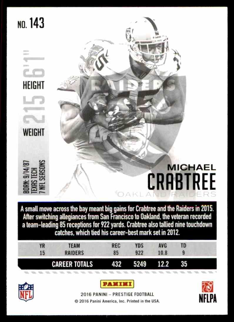 Football Card !! Michael Crabtree 2016 Panini Prestige