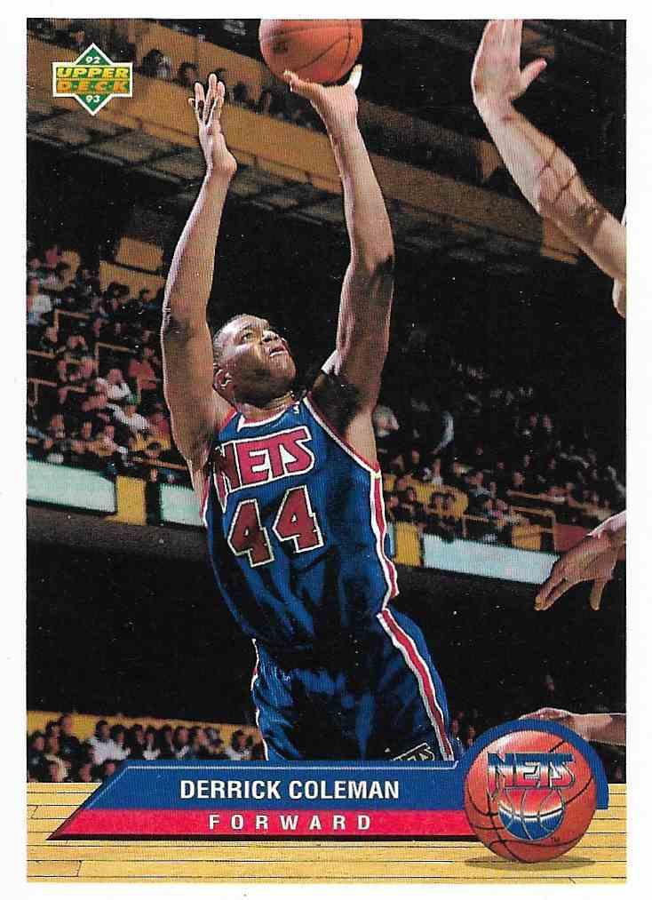 1993-94 Upper Deck McDonald Derrick Coleman #P26 card front image