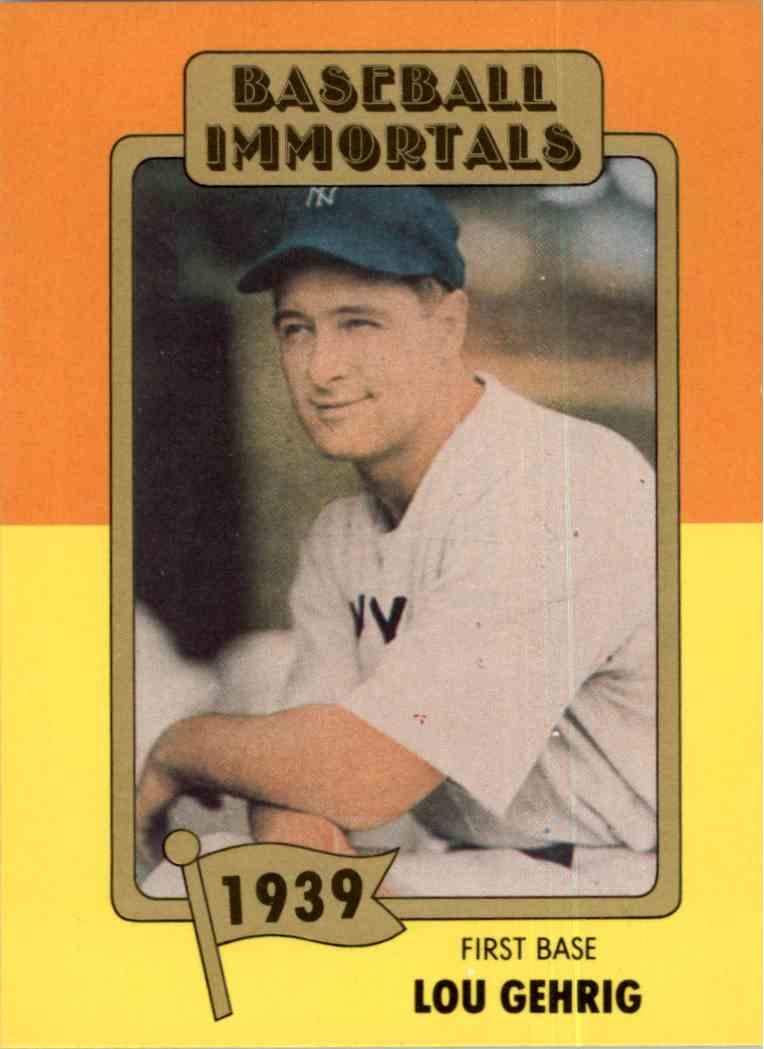 1980 Baseball Immortals 1st Printing Lou Gehrig 22 On