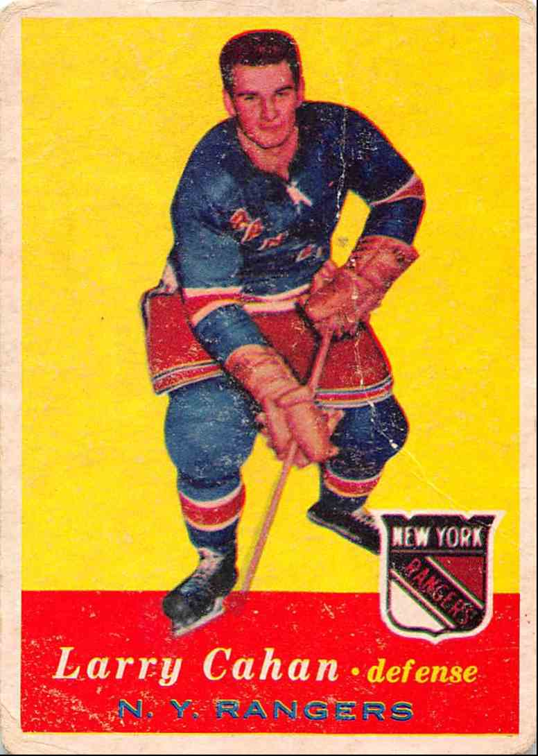 1957-58 Topps Larry Cahan #59 card front image
