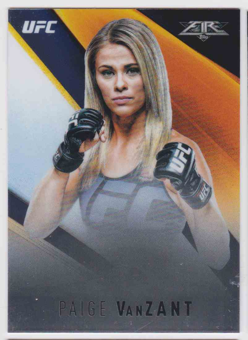 2017 Topps UFC Chrome Fire Paige Vanzant #UF-PV card front image