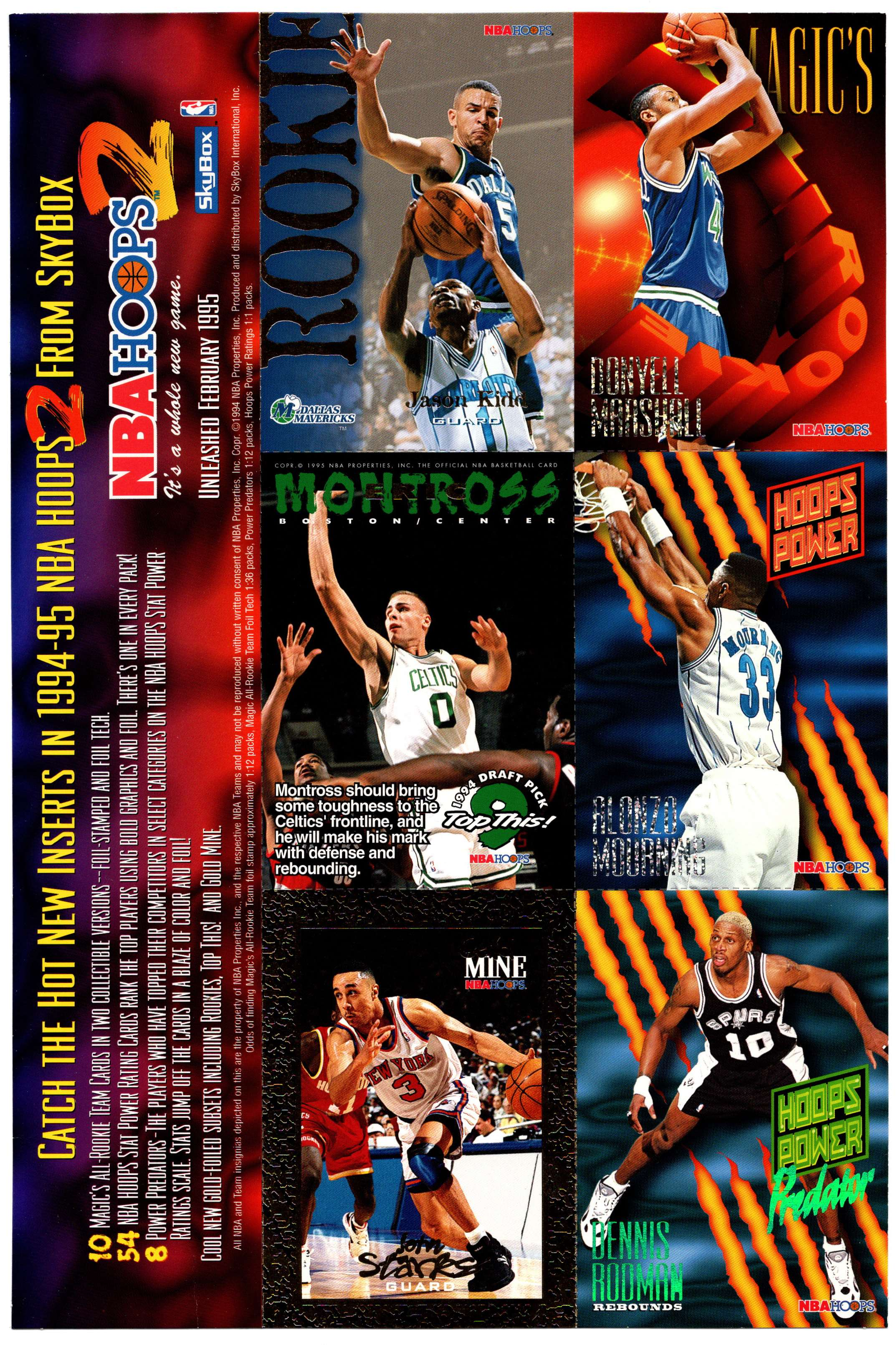 1994-95 Hoops Series 2 Promo Sheet card front image