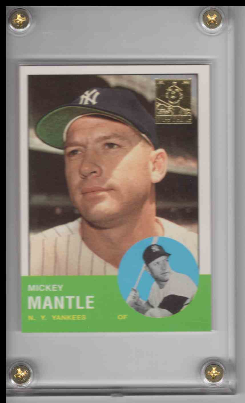 1996 Topps Mickey Mantle Commemorative Set Mickey Mantle #13 card front image