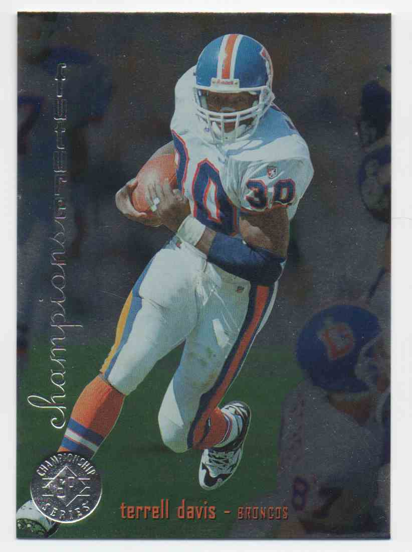 1995 SP Championship Series Terrell Davis #14 card front image