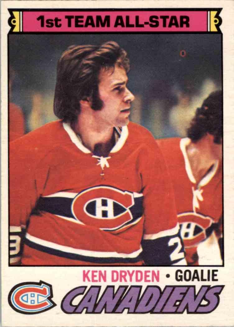 1977-78 O-Pee-Chee Ken Dryden - Near Mint/Mint #100 card front image