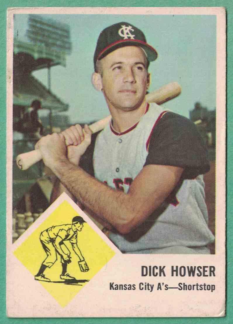 1963 Fleer Dick Howser VG-EX #15 card front image