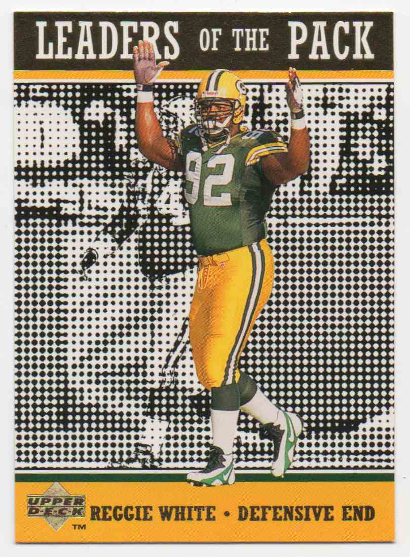 1996 Collectors Choice Green Bay Packers Reggie White #85 card front image