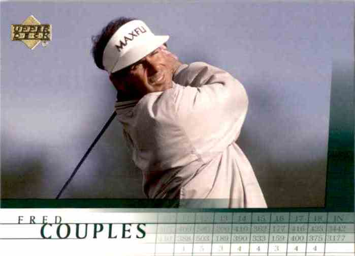 2001 Upper Deck Fred Couples #7 card front image