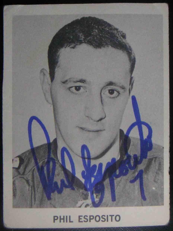 1965-66 Coca Coca-Cola NHL Players Phil Esposito card front image