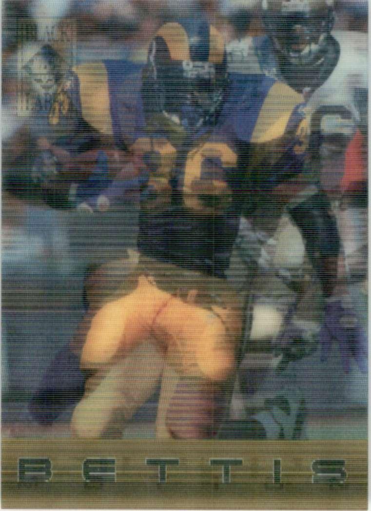 1995 Collector's Edge Black Label Quantum Motion Jerome Bettis #1 card front image