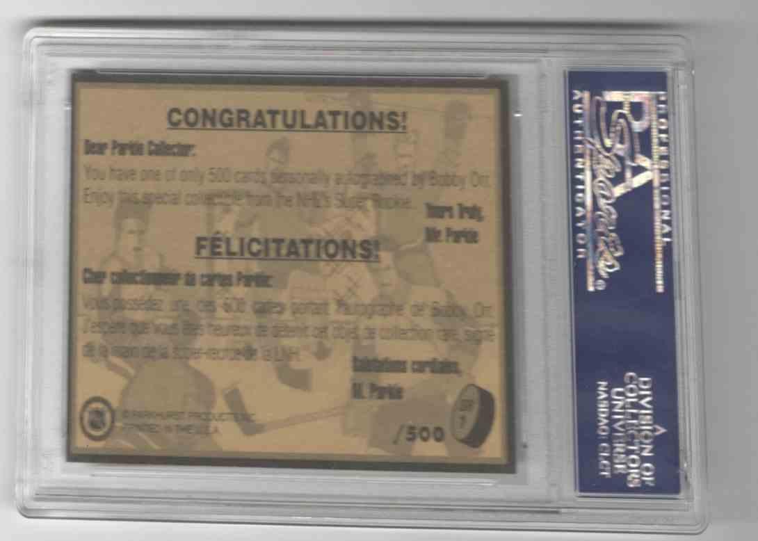 1995-96 Parkhurst Bobby Orr #SR1 card back image