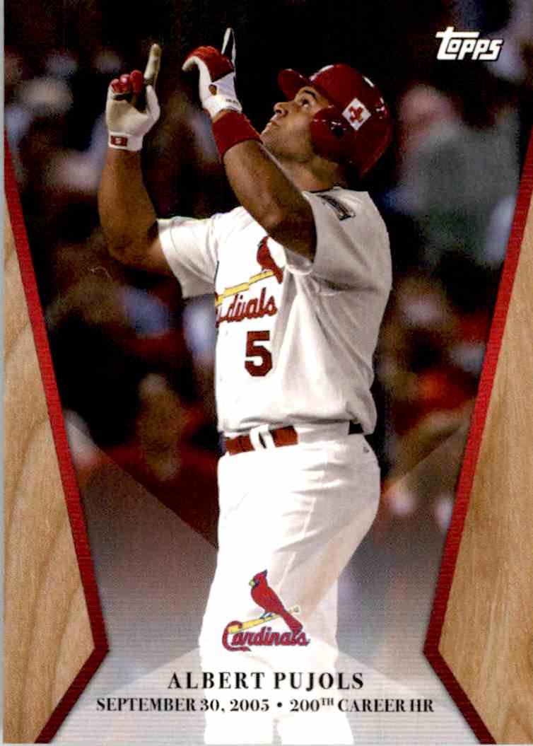 2017 Topps On Demand Chasing 600 Albert Pujols #2 card front image