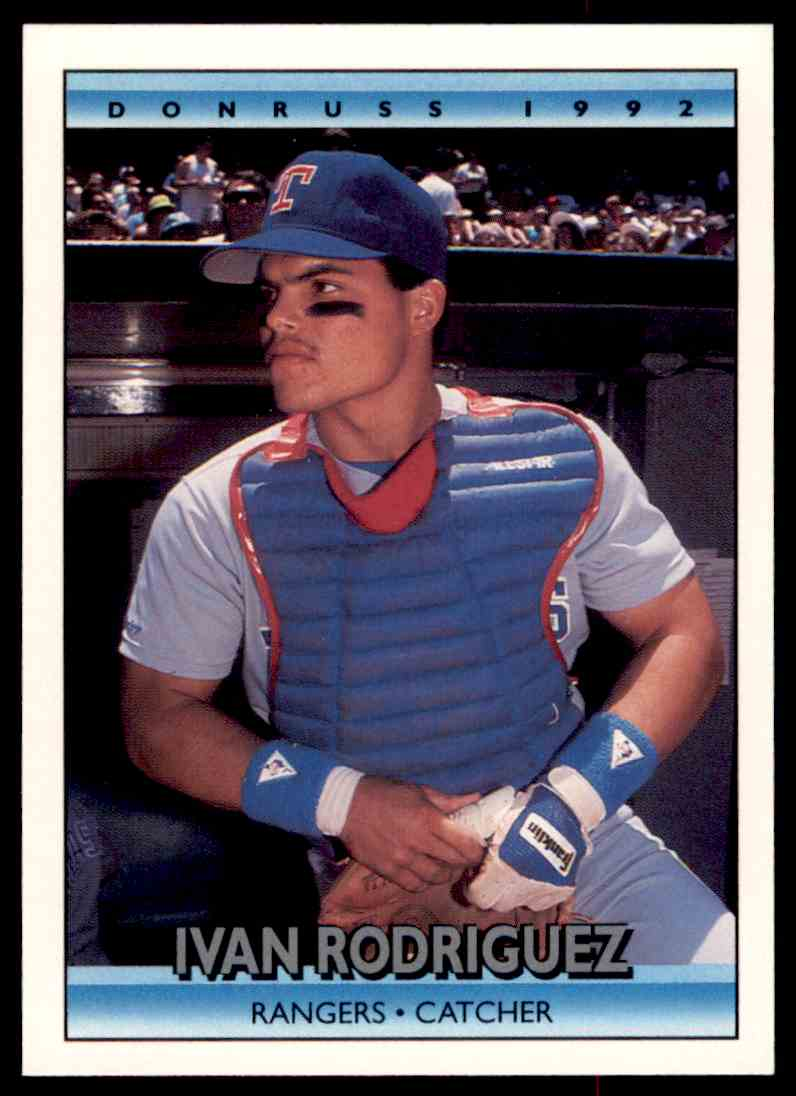 1992 Donruss Baseball Ivan Rodriguez 289 On Kronozio