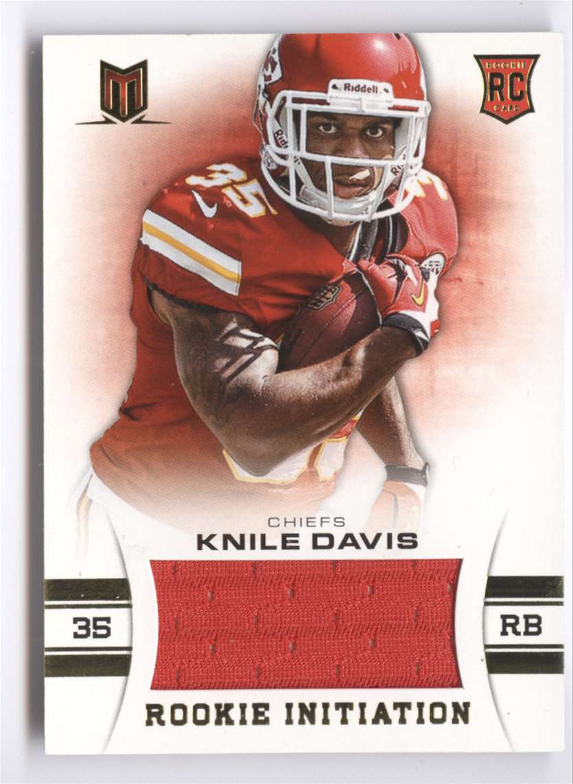 2013 Panini Momentum Rookie Initiation Materials Knile Davis #56 card front image