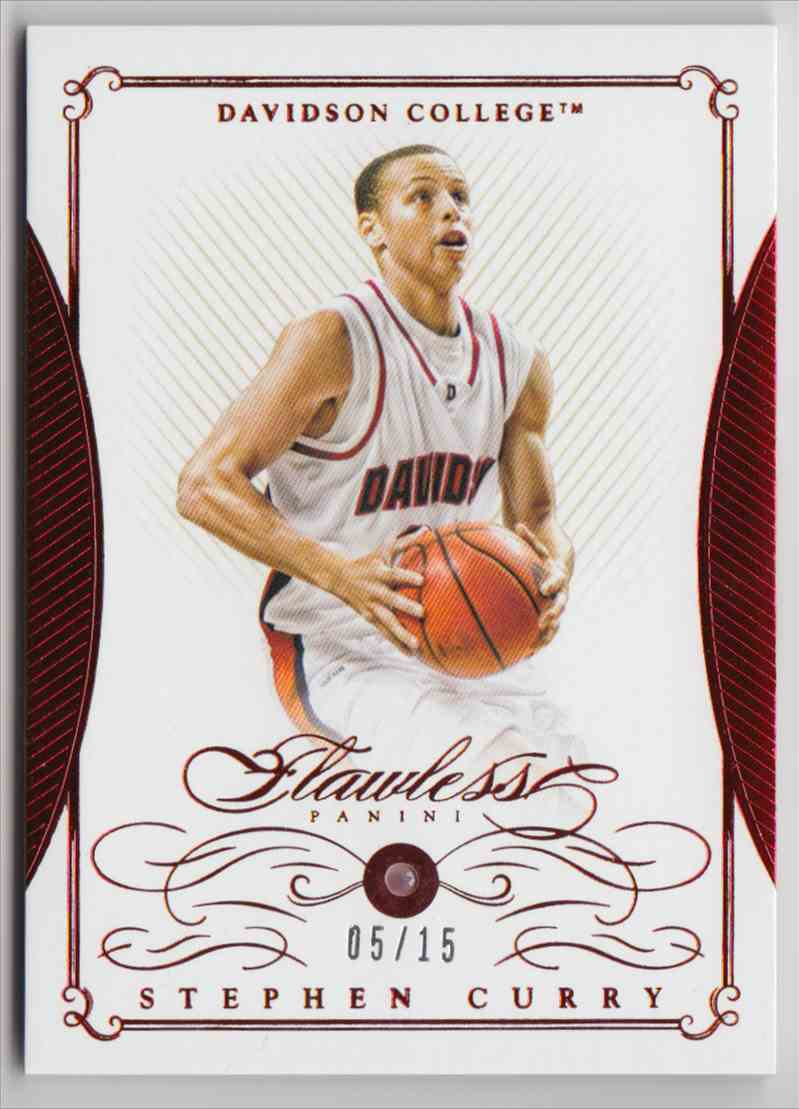 2016-17 Panini National Treasures Collegiate Flawless Ruby Stephen Curry #38 card front image