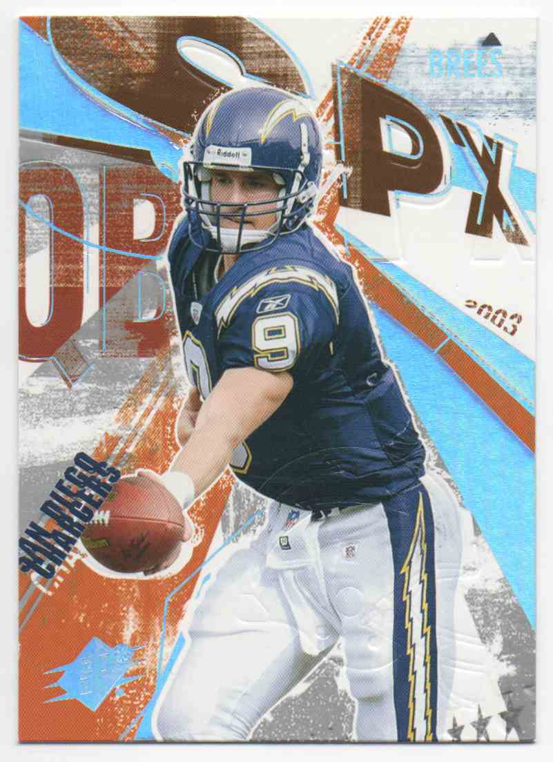 2003 SPx Drew Brees #9 card front image