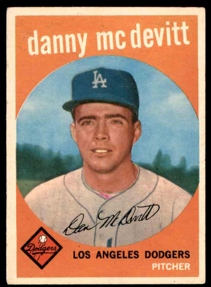 1959 Topps Danny McDevitt #364 card front image