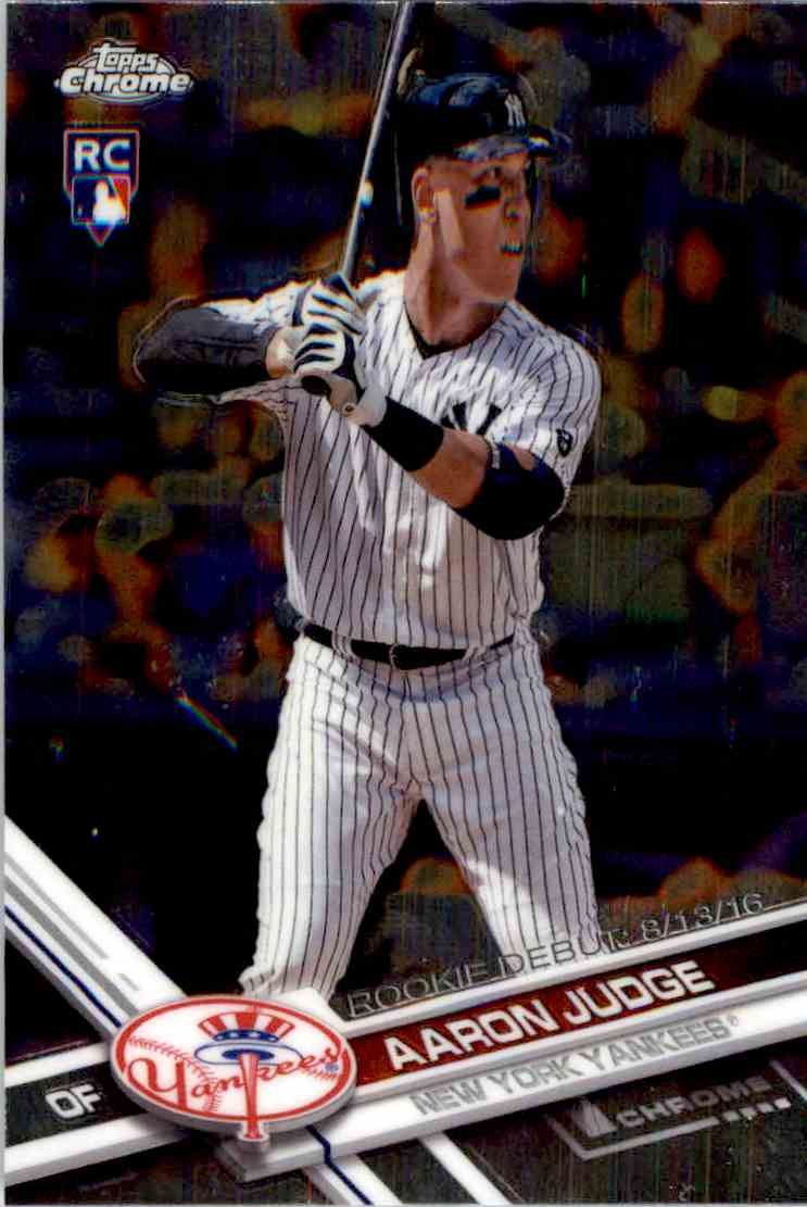 2017 Topps Chrome Update RC Aaron Judge #HMT50 on