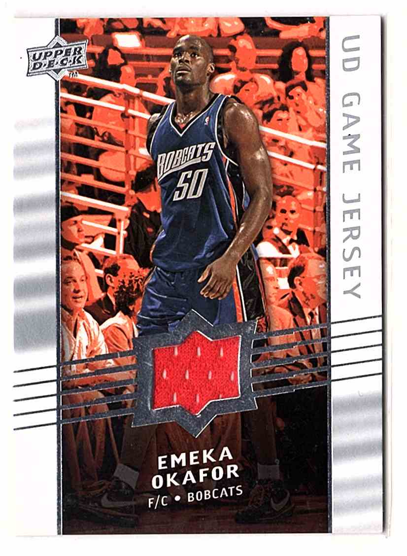 2008-09 Upper Deck Game Jerseys Emeka Okafor #GAEO card front image