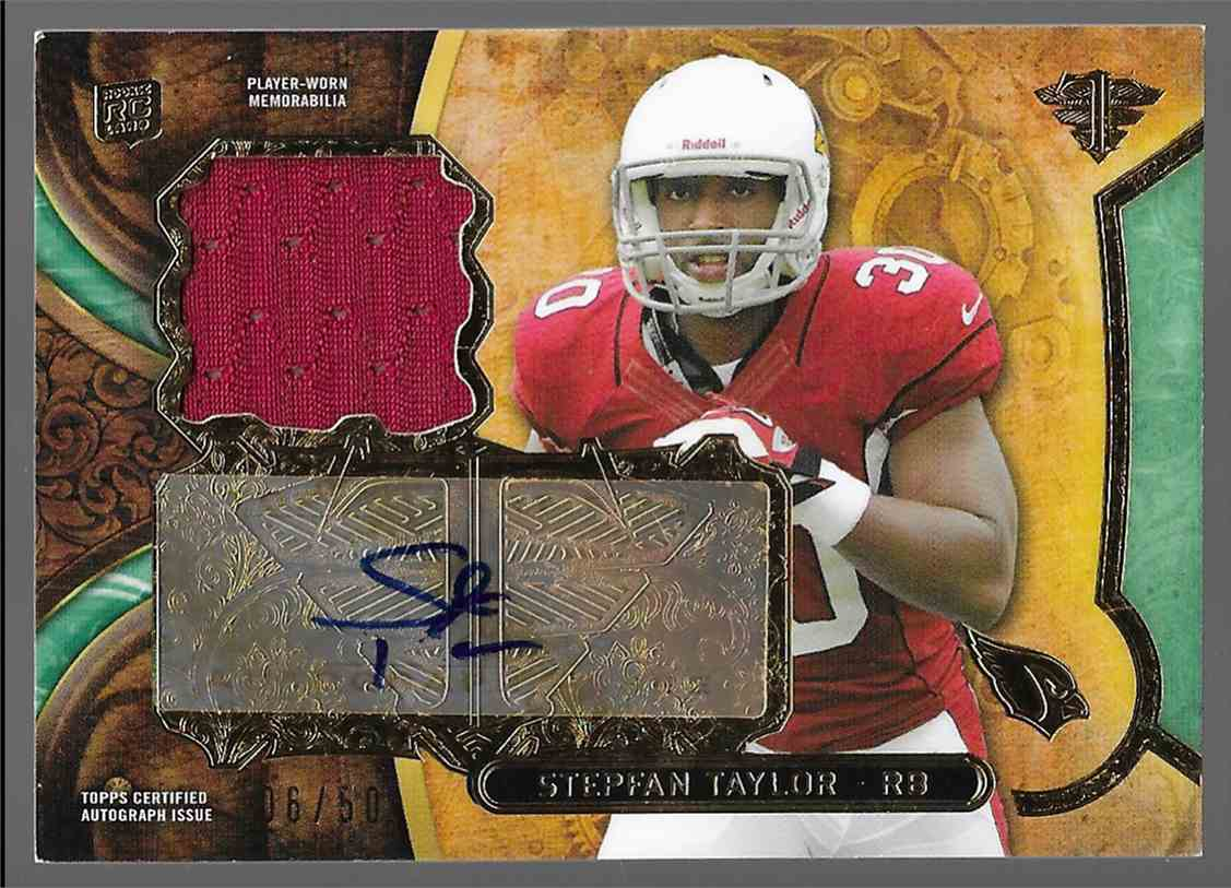 2013 Topps Triple Threads Jersey Auto RC Stephan Tayllor #TTRAR ST2 card front image