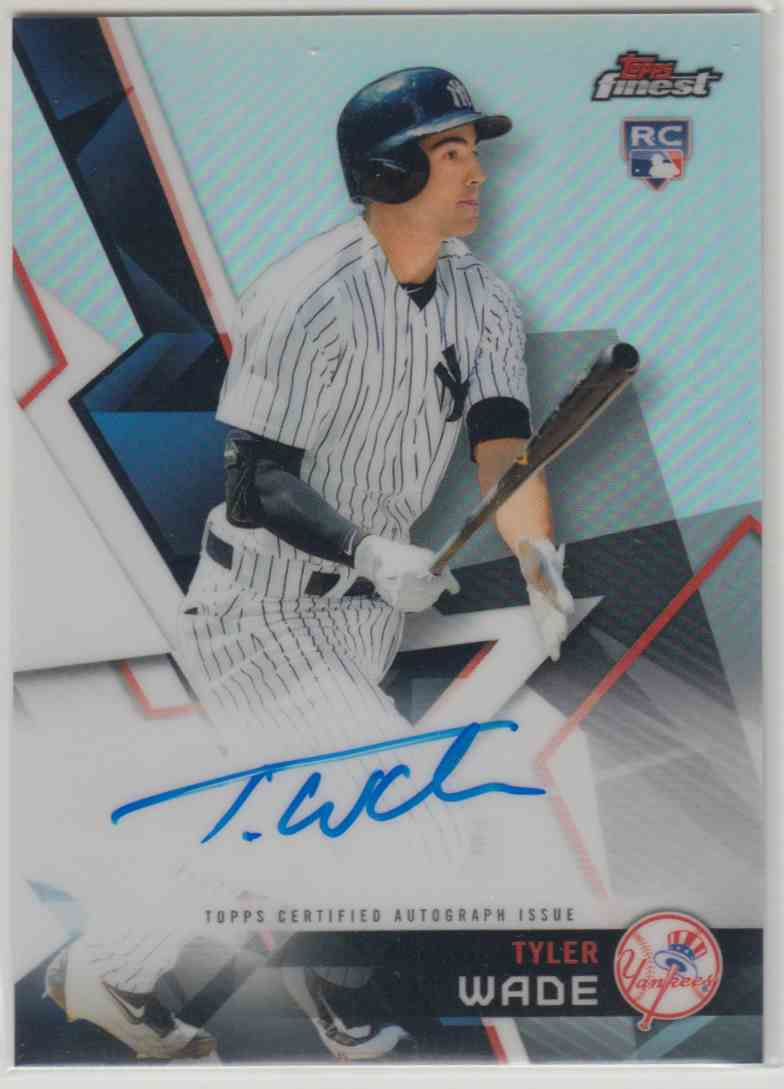 2018 Topps Finest Finest Autographs Tyler Wade #FA-TW card front image