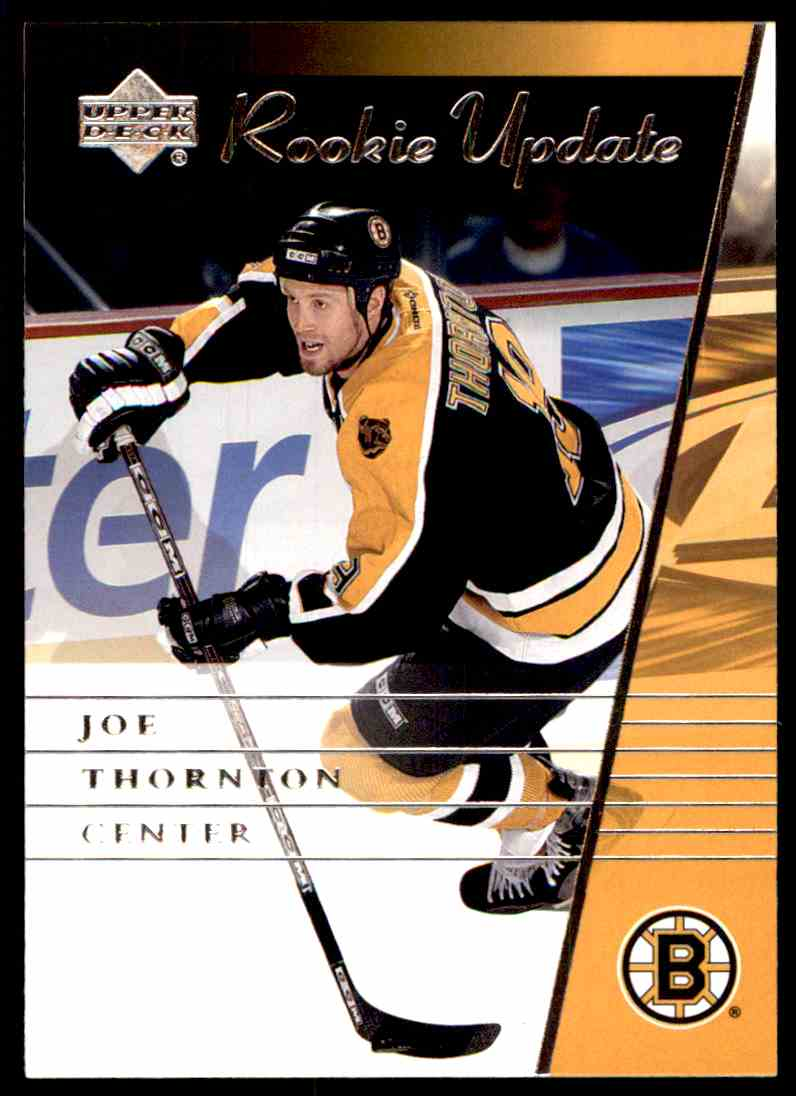 2002 03 Upper Deck Rookie Update Joe Thornton 9 On Kronozio