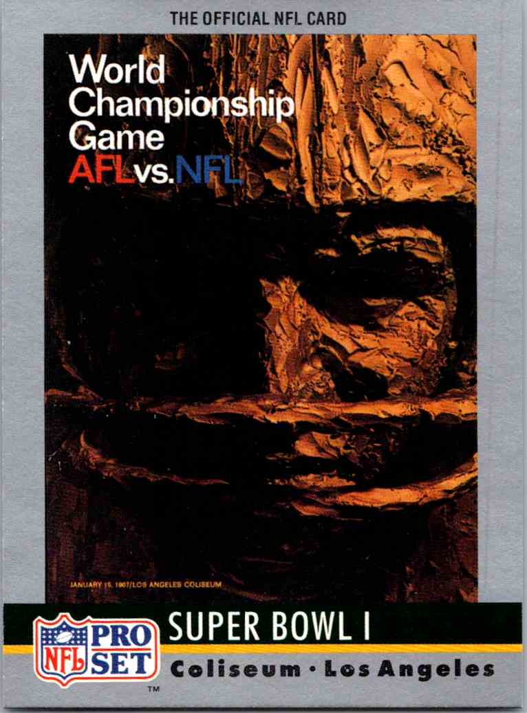 1967 Topps Classic 1970s-1980s Select Rare Football Cards Superbowl/championships #1 card front image