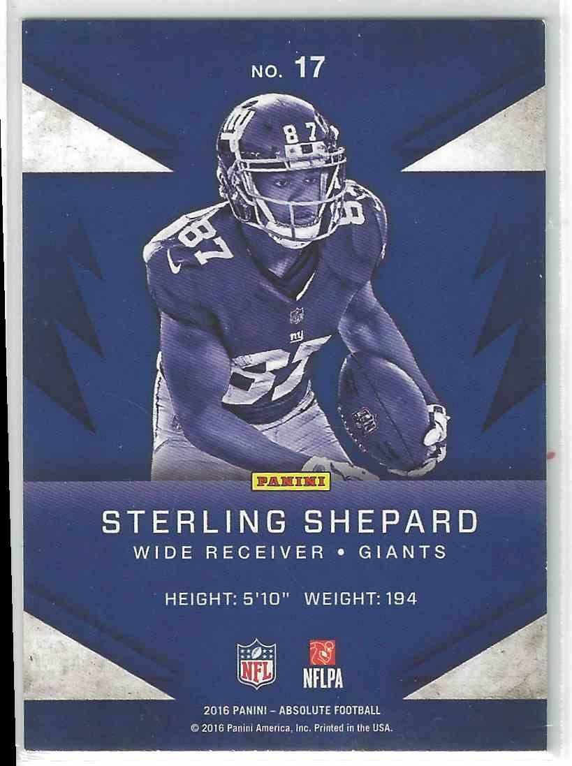 2016 Panini Absolute Rookie Round Up Sterling Shepard 17
