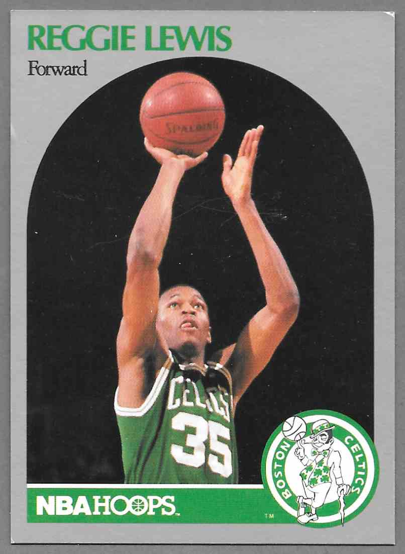 1990 91 NBA Hoops Reggie Lewis 43 on Kronozio