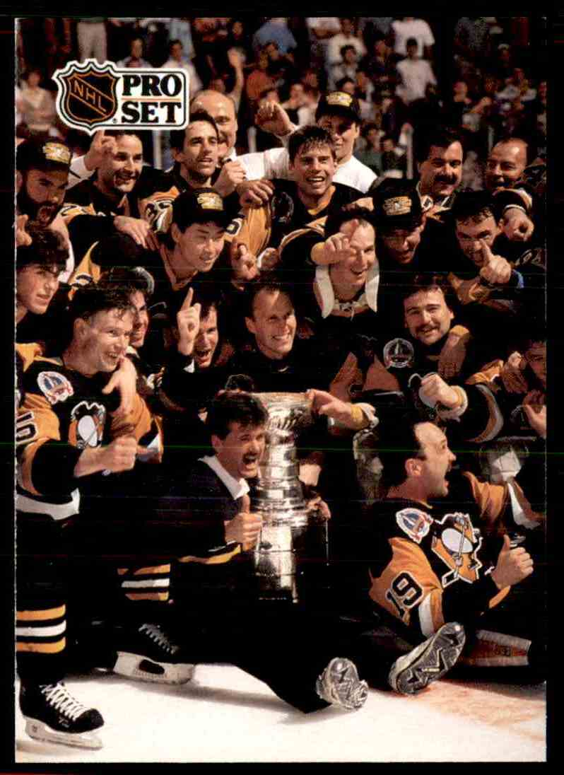 1991 92 Pro Set Pittsburgh Penguins Stanley Cup Champion 319 Card