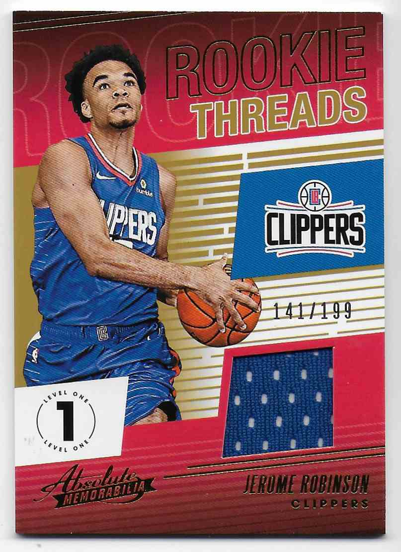 2018-19 Absolute Memorabilia Rookie Threads Jerome Robinson #13 card front image