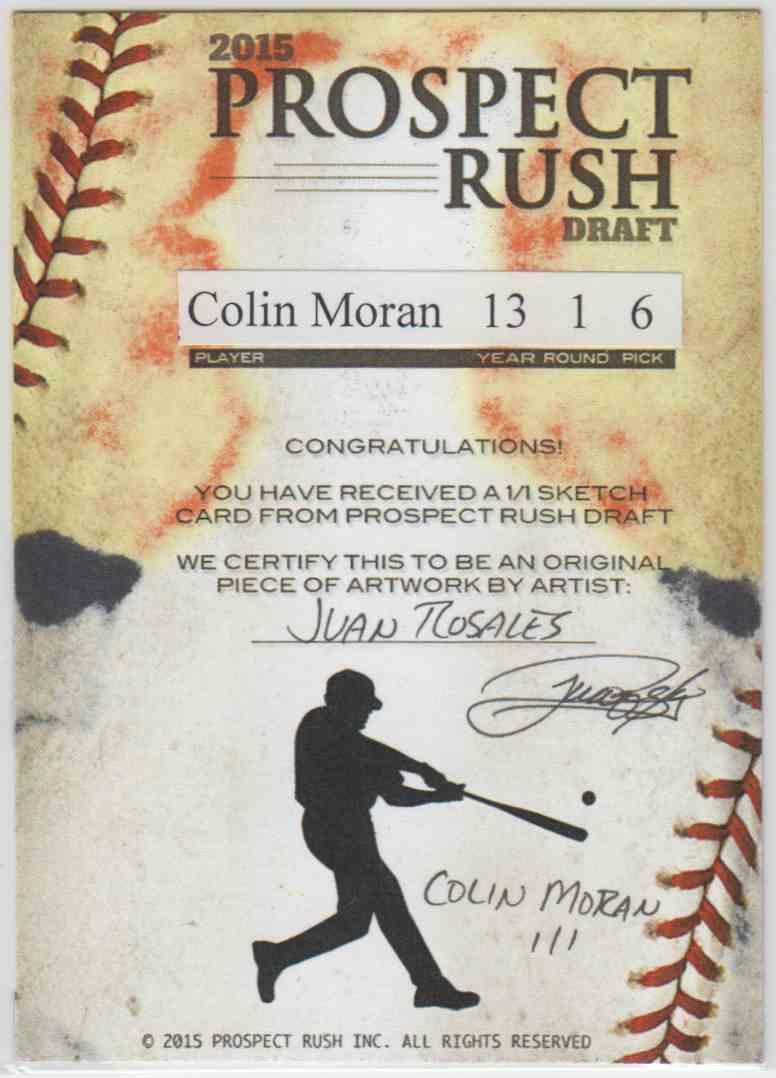2015 Bowman Prospect Rush Draft Sketch Card Colin Moran #NO card back image