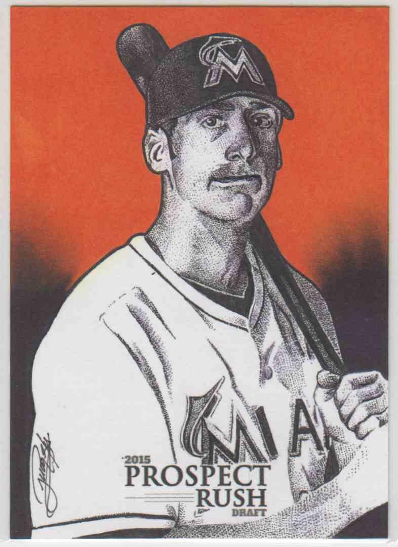 2015 Bowman Prospect Rush Draft Sketch Card Colin Moran #NO card front image