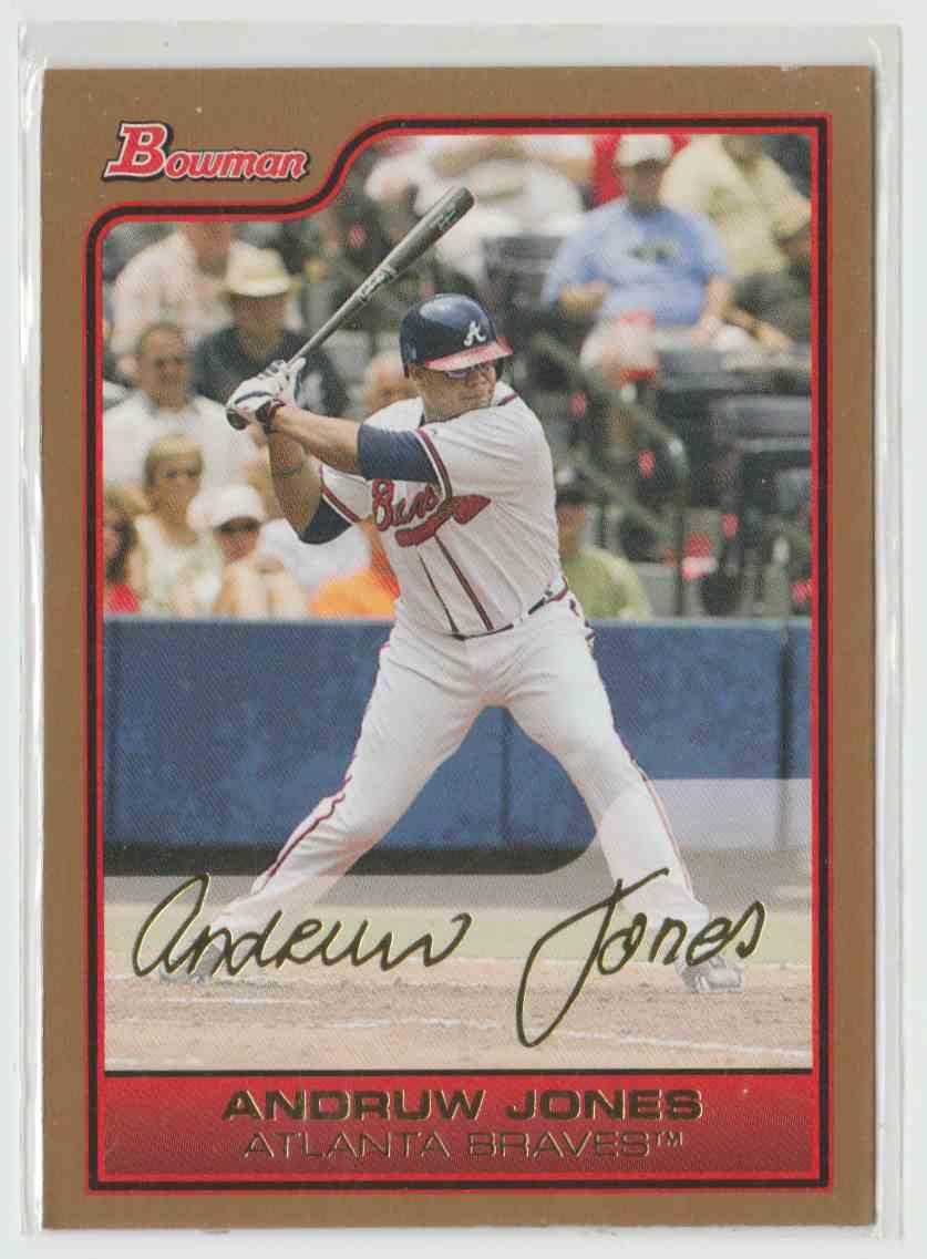 2006 Bowman Gold Andruw Jones 45 On Kronozio
