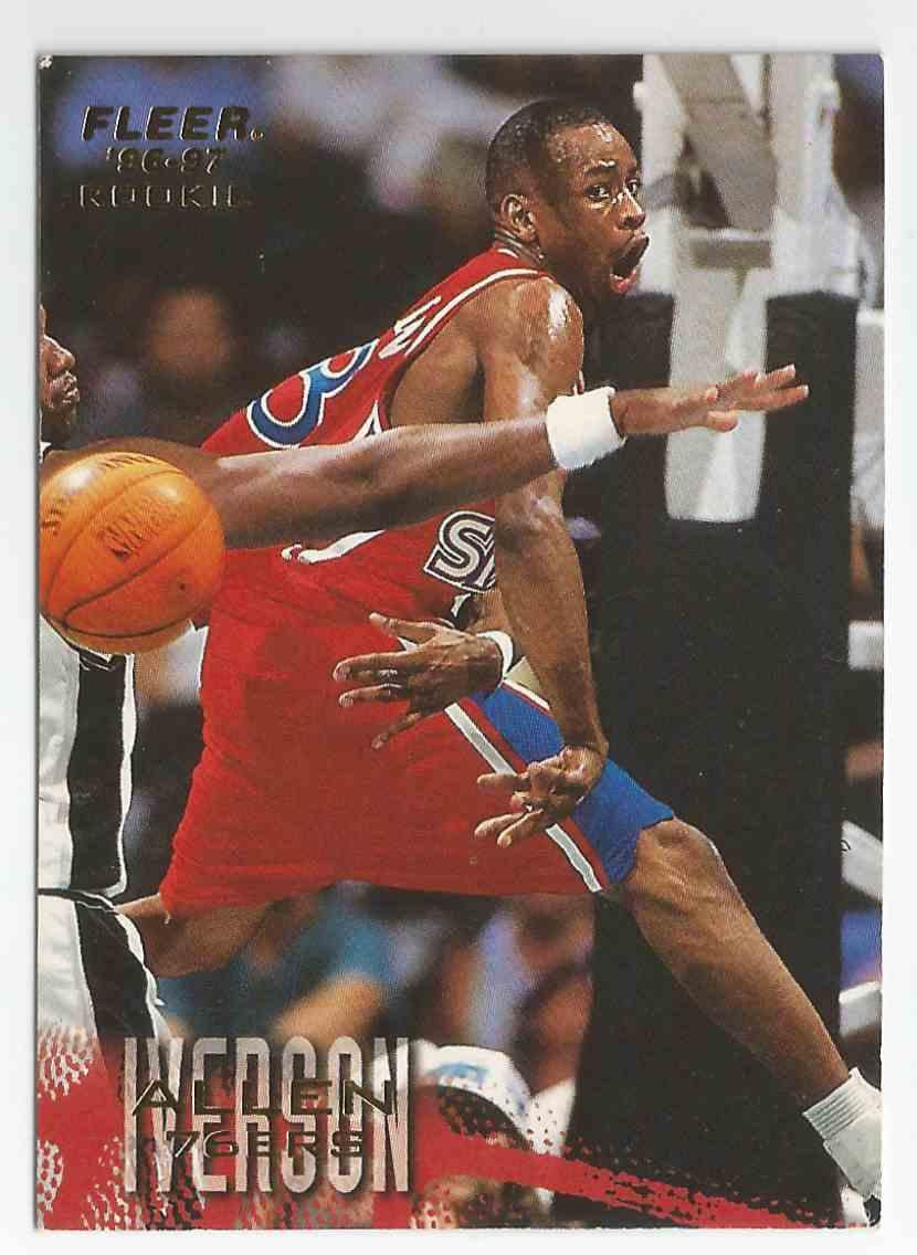1997 98 Fleer Allen Iverson Rookie Card Philadelphia 76