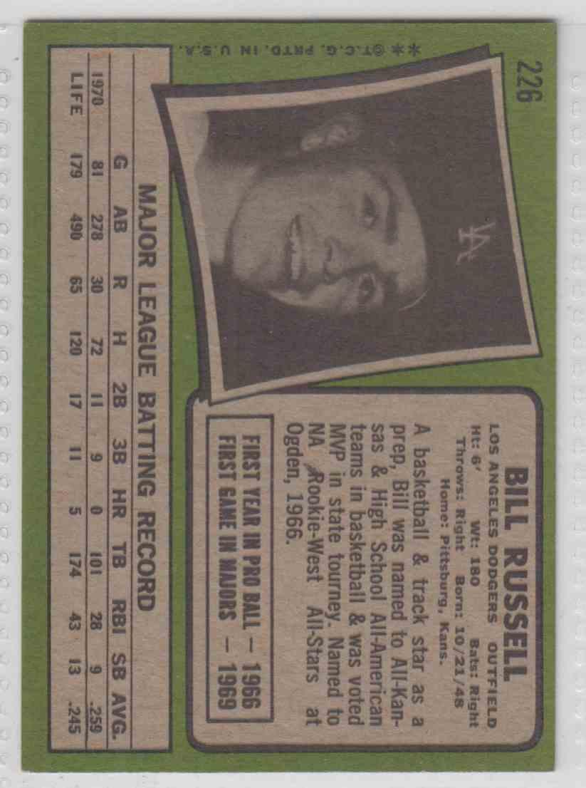 1971 Topps Bill Russell 226 On Kronozio