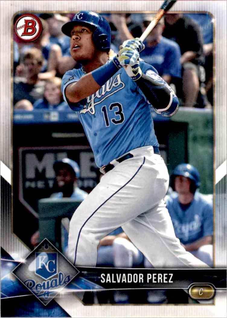 2018 Topps Bowman Chrome Base Set Salvador Perez #18 card front image