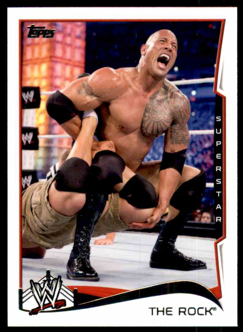 2014 Topps Wwe The Rock #40 card front image