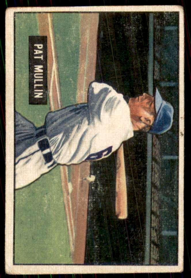 1951 Bowman Vg No Creases Pat Mullin #106 card front image